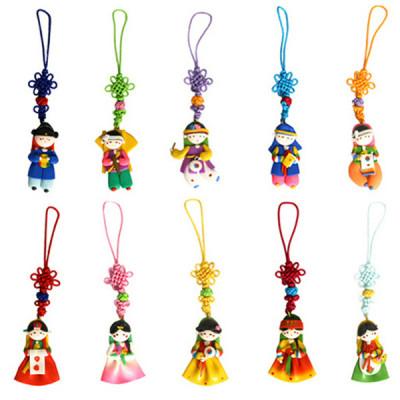 칼라믹스 핸드폰줄(10개)/한국기념품공예품외국인선물 상품이미지