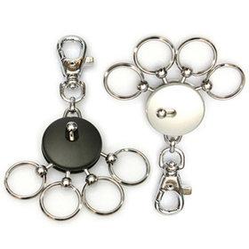 7)고리형멀티훅키링(블랙)round multi ring(black)