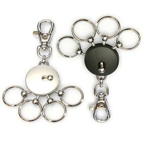 7)고리형멀티훅키링(실버)round multi ring(silver)