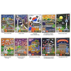 95)관광지카드자석10개 Tour card magnet 10pcs